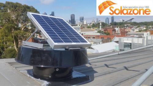 máy làm mát không khí bằng năng lượng mặt trời trên mái tôn- Melbourne Úc