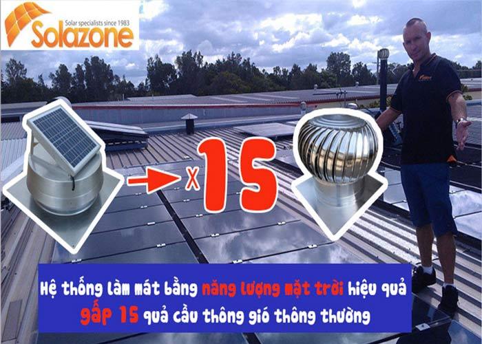 Máy làm mát Solazone mang lại nhiều hiệu quả vượt trội