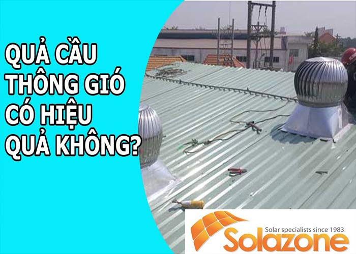 Quả cầu thông gió có thể gây ra tiếng kêu trên mái nhà